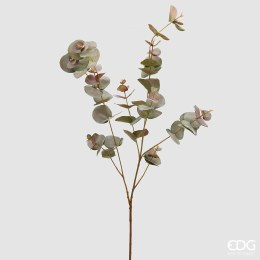 Artificial Eucalyptus branch green and red leaf 100cm