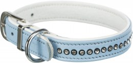Trixie Collar with Rhinestones S-M Blue