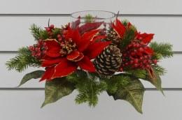 Christmas Poinsettia Candle Holder 40cm