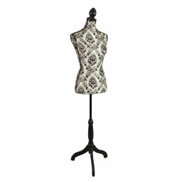 Retro Mannequin White with Black Ornaments With Adjustable Height