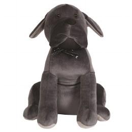 Christmas Dog Doorstop Grey