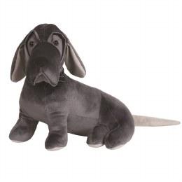 Christmas Beagle Doorstop Grey