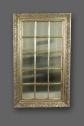 Retro Silver Mirror With  Antique Finish 60 x 120cm