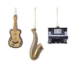 Christmas Decoration Music Instrument 12cm