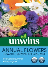 Annual Flowers Dwarf Unwins Special Mix
