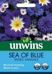 Unwins Sea of Blue Mix Annuals