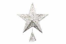Christmas Tree Top Gold metal Glitter Star 35cm