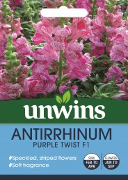 Antirrhinum Purple Twist F1