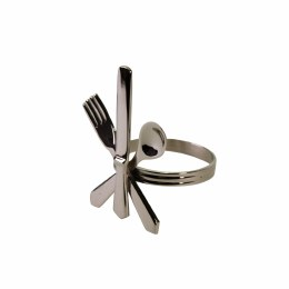 Antique Napkin Ring Cutlery Brass Nickle Plated 6cm