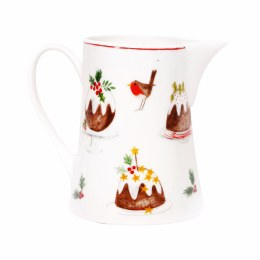 Christmas Plum Pudding Bone China Jug - Small