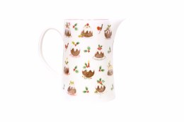 Christmas Plum Pudding Bone China Jug - Large