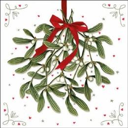Napkin 33cm Mistletoe