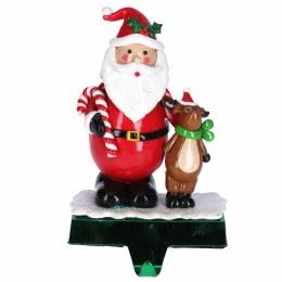 Santa Wiith Reindeer Stocking Holder 22x13cm