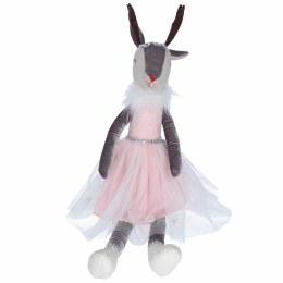 Christmas Plush Fabric Sitting Pink Ballerina Reindeer Ornament 62x14x12cm