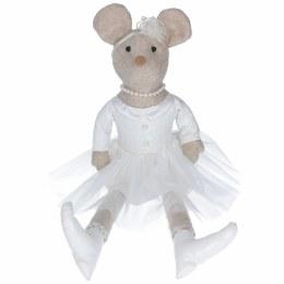 Christmas Plush Fabric Sitting Princess Mouse Ornament 60x19x11cm