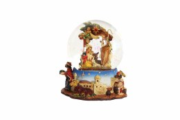 Christmas Nativity Music Dome With Angels 14cm