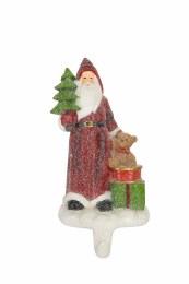 Christmas Stocking Holder Santa With Toys 19cm