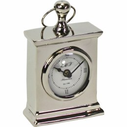Retro Table Clock Stainless Steel 8cm x 16cm