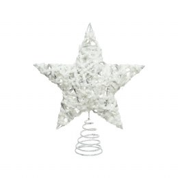 Christmas Tree Topper Star With Glitter 23cm