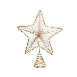 Christmas Gold Tree Topper Star 23cm