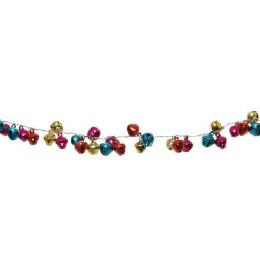 Christmas Garland Bells Multi Colour 120cm