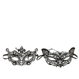 Venetian Face Mask Stainless Steel with Strass Stones 8 x 17 x 9cm