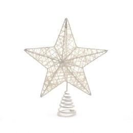 Christmas Tree Top Star White 20x23cm