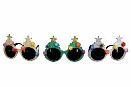 Christmas Novelty Glitter Sunglasses