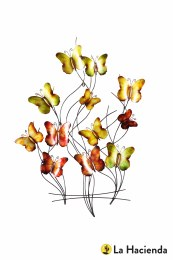 La Hacienda Wall Art 3D Butterfly Swarm Indoor/Outdoor Steel