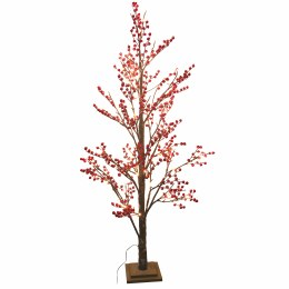 Christmas Cherry Tree With Red Berries and Lights 1.5m