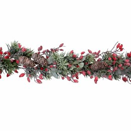 1.6m Frosted Fir Garland With Rosehips