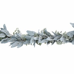 1.8m Christmas Frosted Leaf Garland With Mini Berry