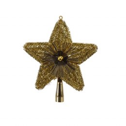 Christmas Light Gold Tree Top Star 23cm