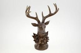 Antique Deer Bust With Glitter Polyresin 31cm x 17cm x 47cm