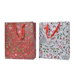 Christmas Red or White Design Paper Giftbag Medium 10 x 26 x 32cm