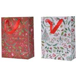 Christmas Red or White Print Paper Giftbag Small 8 x 18 x 24cm