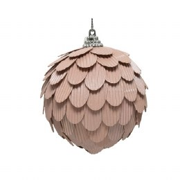 Christmas Bauble Blush Pink 8cm