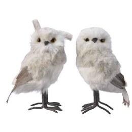 Christmas Plush Owl with Glitter 23cm