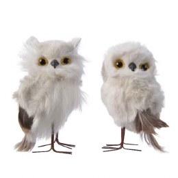 Christmas Plush Owl with Glitter 12cm