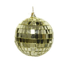Christmas Bauble Foam Gold Discoball with Hanger 8cm
