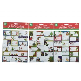 Christmas Wrapping Gift Tags Multi 20x25.5cm