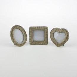 Antique Mini Picture Frame Champagne Glitter
