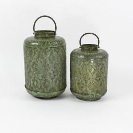 Antique Green Iron Metal Lantern Bankok Large