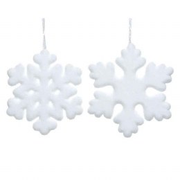 Xmas Snowflake with Silver Hanger 39cm