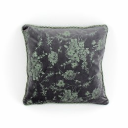 Retro Cushion Soft Shimmer Grey Green 100% Polyester 45cm x 45cm
