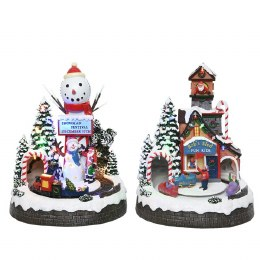 Christmas LED Train Tunnel Battery Operated 23.3x22x29cm
