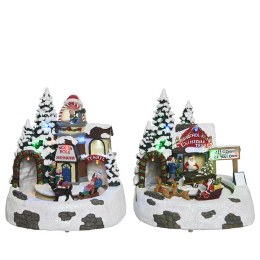 Christmas LED Forest Scene With Tunnel With 9 Lights Multi 18x19x21cm