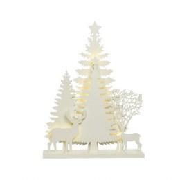 Christmas Woodland Tree Scene with LED Lights 30 x 40cm