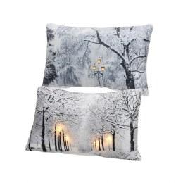 Christmas LED Cushion Warm White 6x30x50cm