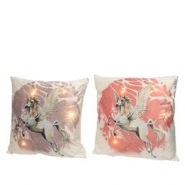 Christmas Cushion with LED Lights with Unicorn 45x45cm - Battery Operated